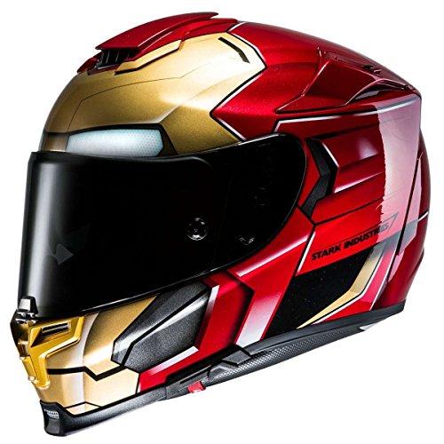 Casco integral con parasol y disco antivaho RPHA 70 Iron Man Homecoming Marvel de HJC (XXS (52/53))