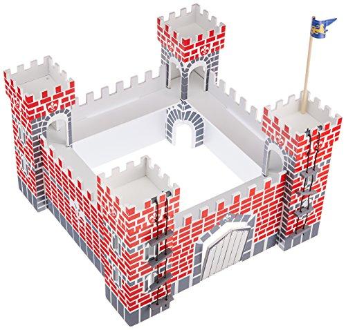 Castillo de madera con 21 piezas
