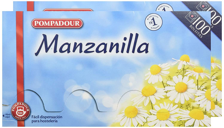 200 bolsitas pompadour de té infusión manzanilla