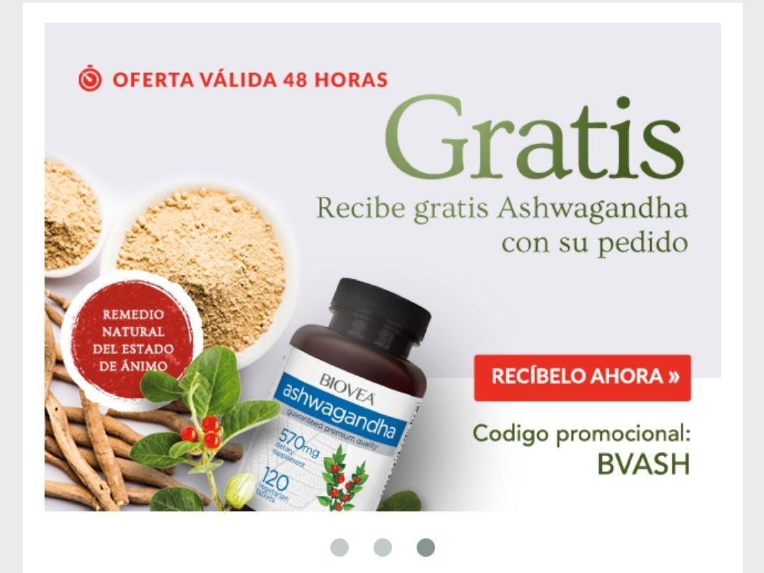 Ashwagandha 570mg.120 caps gratis al consumir 3,40€ en otro producto