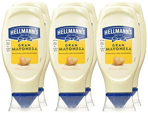 Hellmann's - Helmanns Mayo Bocabajo 430 ml - Pack de 6