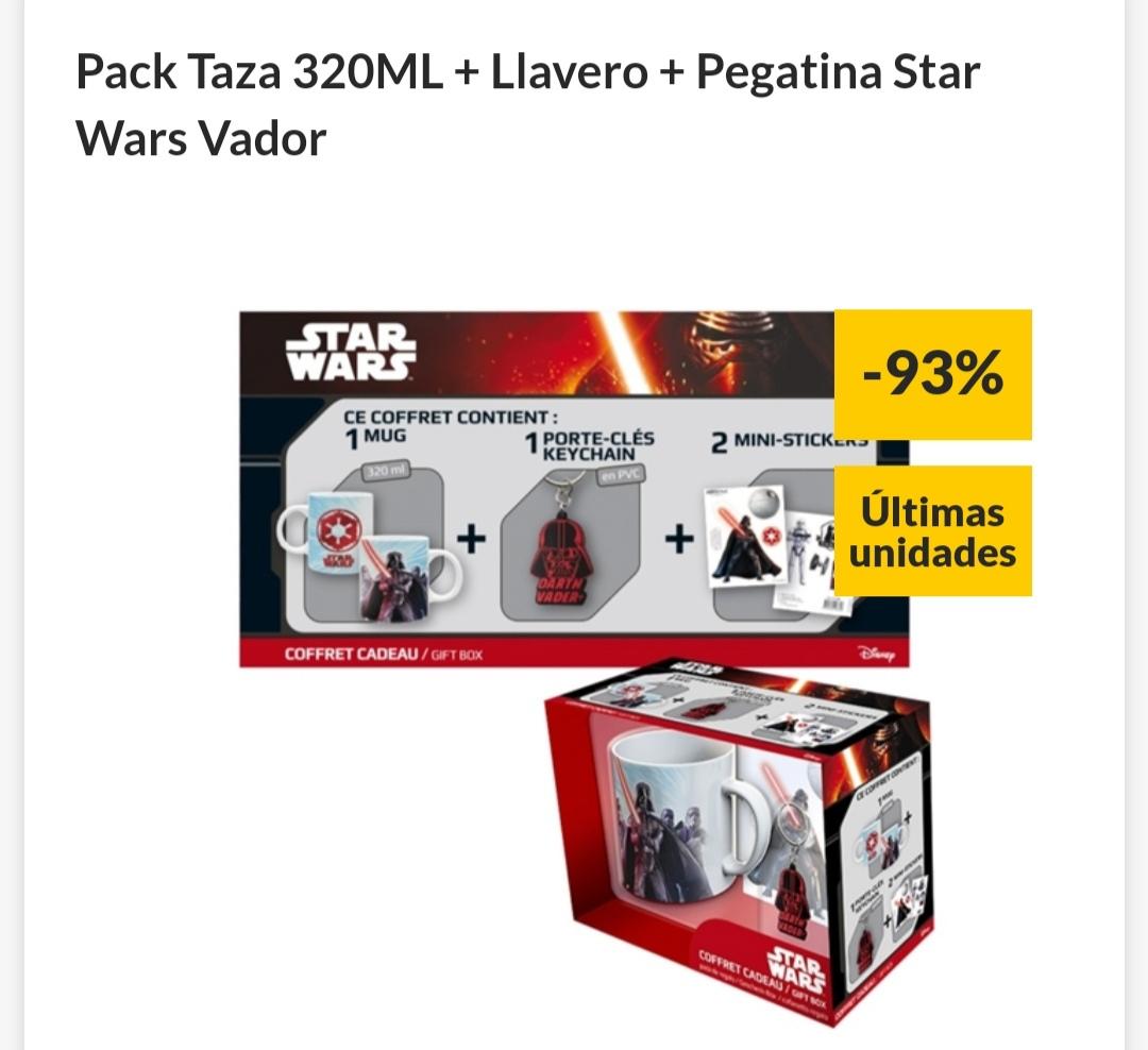 Preciazo Pack Taza 320ML + Llavero + Pegatina Star Wars Vaderr