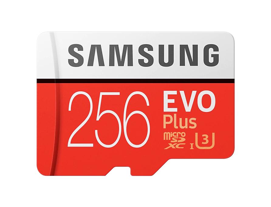 Samsung EVO 256GB MicroSD solo 16.3€