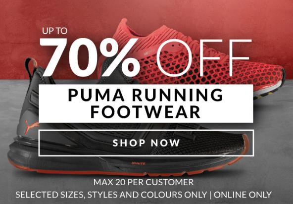 Descuentos de hasta el 70% Off en Puma Running Footwear en SportsDirect