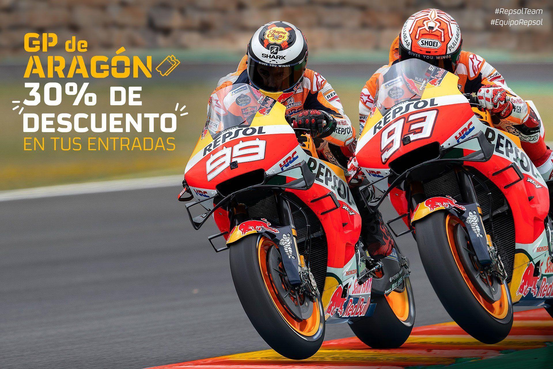 Motos Motorland GP Aragón 30% descuento
