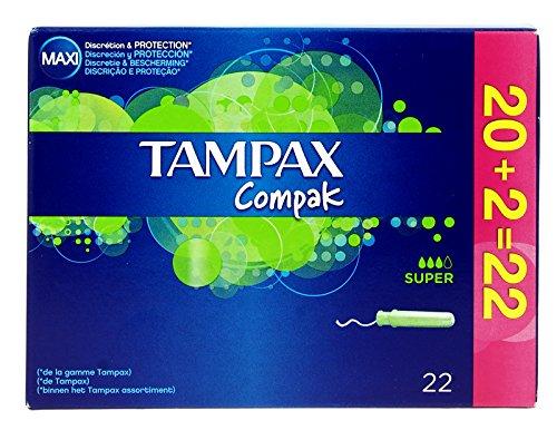 Tampax Compak Super. Caja de 22 unidades