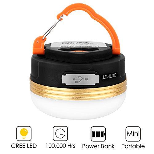 Luz Camping USB 1800mAh solo 4.99€