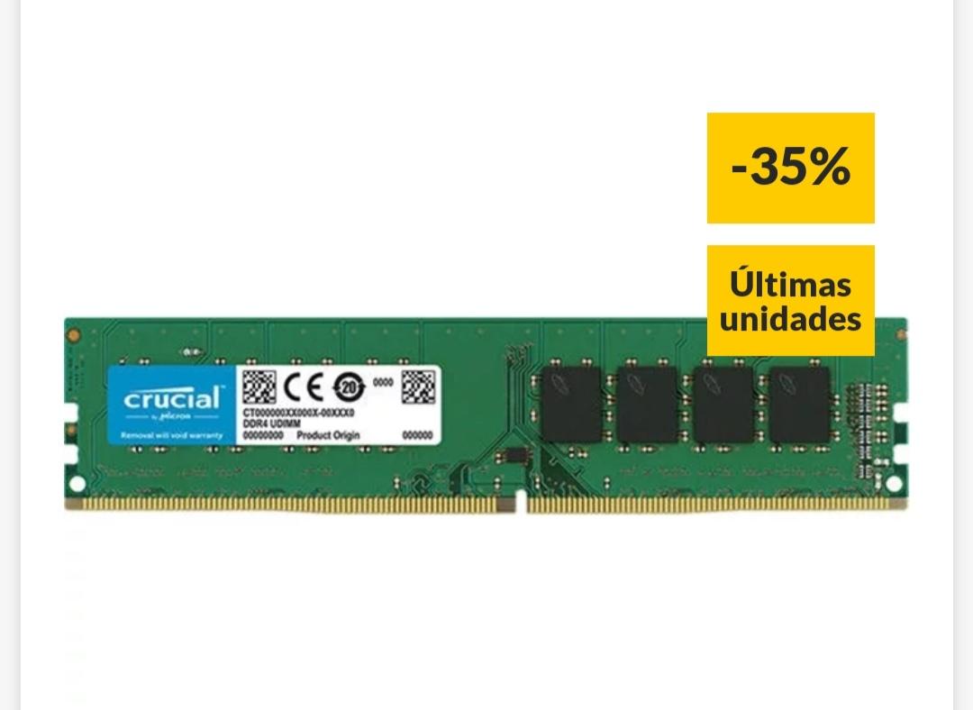 Memoria RAM CRUCIAL DDR4 8GB 2400MHz UDIMM