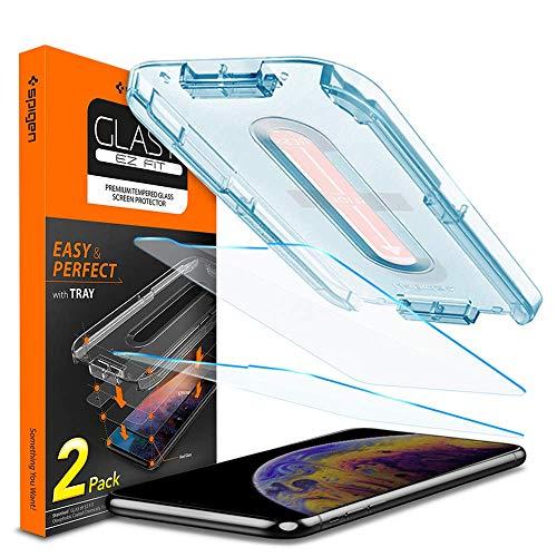 2 Protectores de pantalla de cristal spigen para iPhone XS o XR