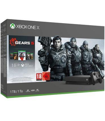 Consola Xbox One X 1TB + Gears of War 5 + GoW Anteriores +1 mes game pass + 14 días prueba