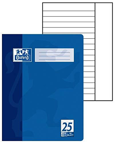 Hamelin Paperbrands Oxford - Lote de 15 libretas de líneas DIN A4, 16 hojas