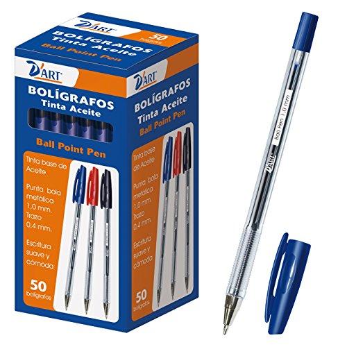 D'Art - Caja de bolígrafos 50 unidades - color azul