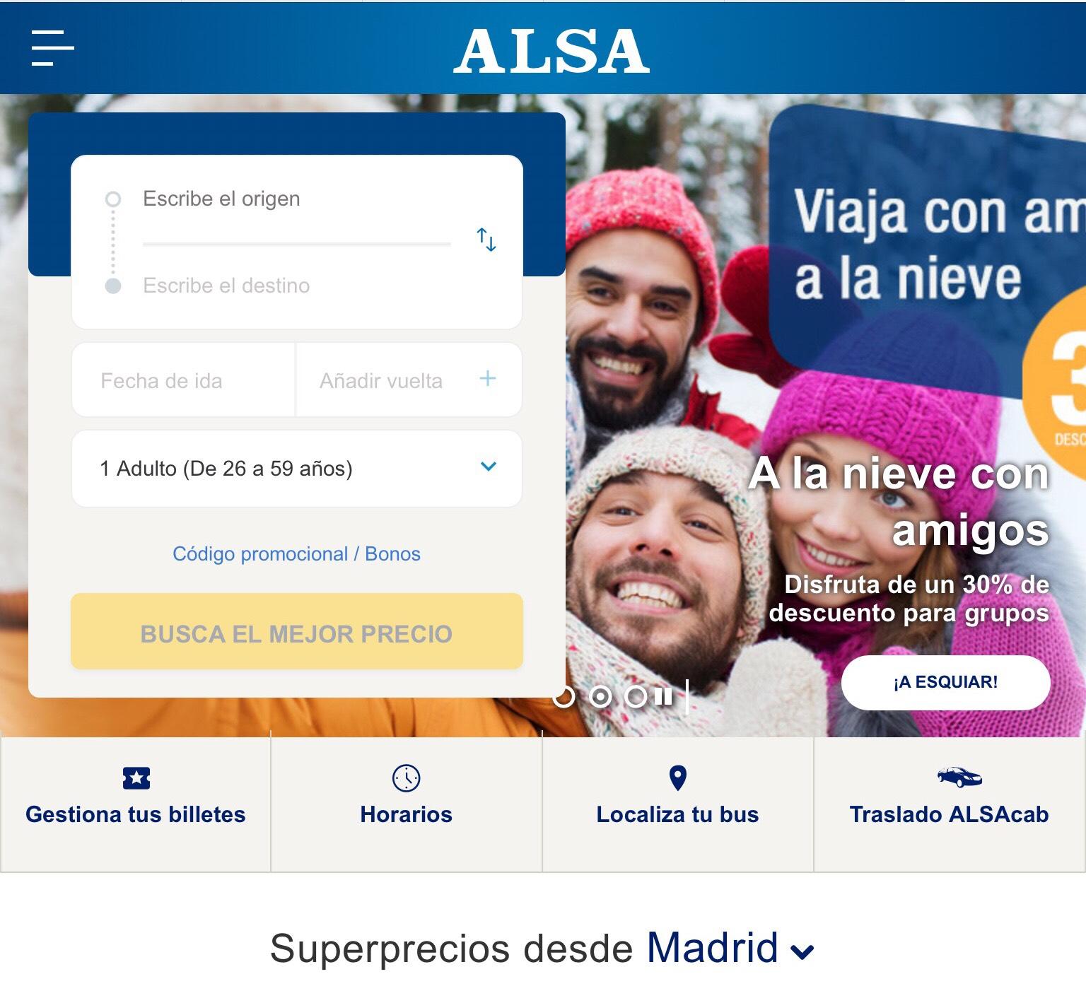 Dsd 5€ – Bus a Madrid dsd 7 ciudades en mayo, hasta -85% Alsa