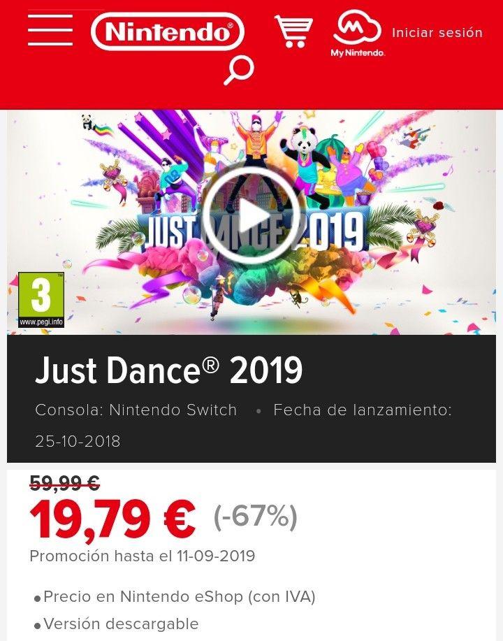 Just Dance 2019 y 2018 rebajados
