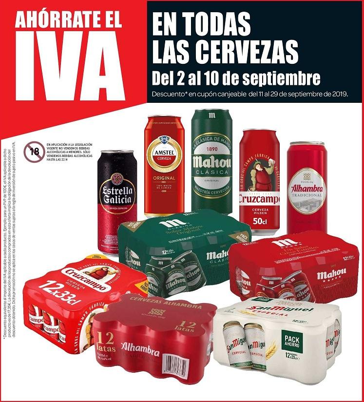 TODAS las cervezas SIN IVA Carrefour