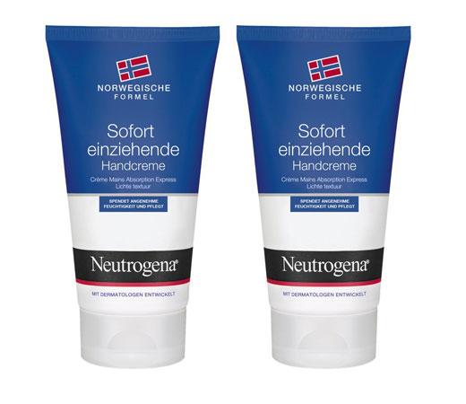 2 Envases de crema de manos Neutrogena Rápida Absorción, 2 Unidades x 75 ml.