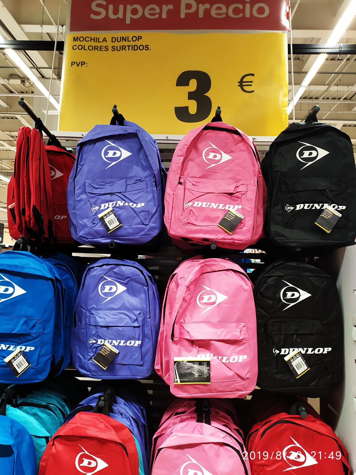 Mochila a 3€ Dunlop!!! en Carrefour