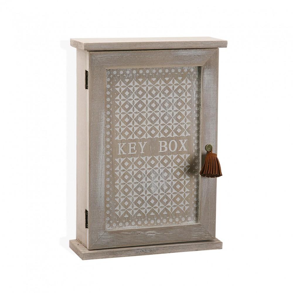 Versa caja guarda llaves de madera