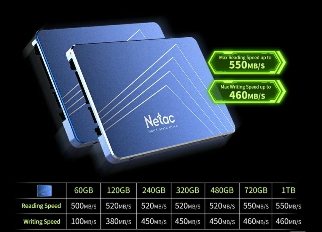 """SSD 2,5"""" Netac N600s 720gb (Con cupón de 4,60)"""