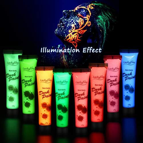 Set de 8 pinturas facial/corporal Neon fluoresceste Luckyfine