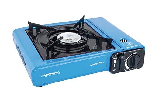 Cocina cartucho a gas Campingaz Camp Bistro 2 de 2.200 W con maletín de transporte.