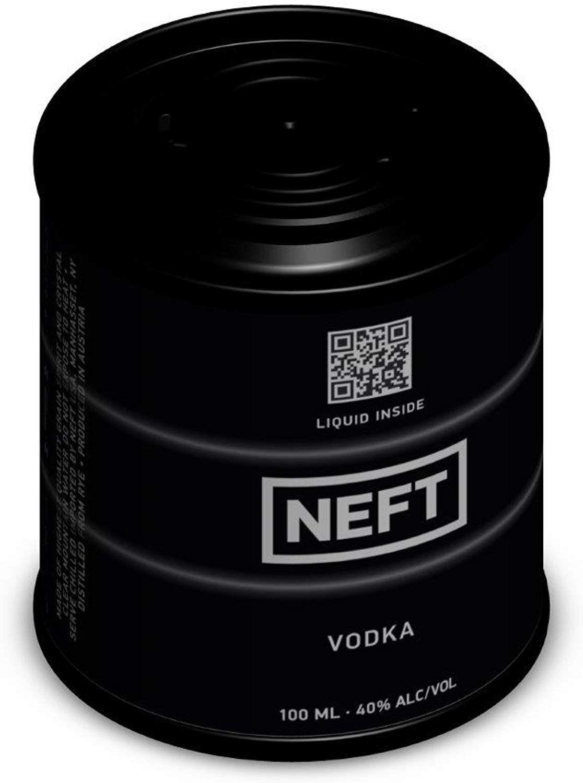 (Producto Plus) Vodka Neft Barril Mini - 100 ml.