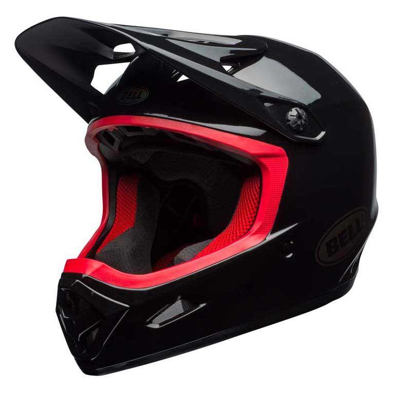 Bell Unisex - Casco de Bicicleta Transfer-9 Fullface, Color Negro/Hibisco, Talla S