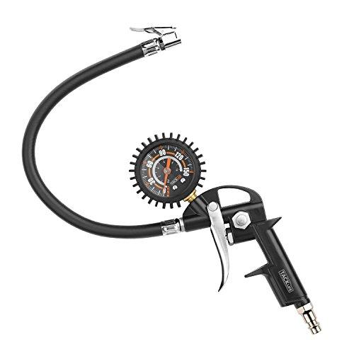 Pistola de aire, TACKLIFE-TIG03-150 PSI con Manómetro