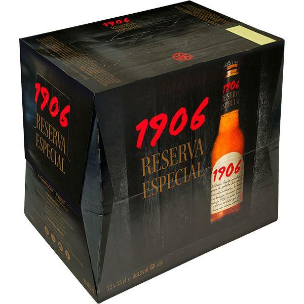 1906 cerveza rubia Reserva Especial 2 pack 12 botellas 33 cl (2x1)