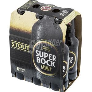 Pack de 6 botellas Cerveza negra SUPER BOCK Stout