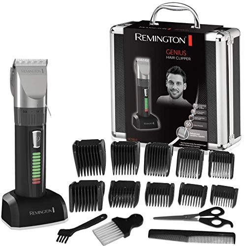 Remington Genius HC5810 - Máquina de Cortar Pelo, Cuchillas de Cerámica, Recargable, 10 Peines