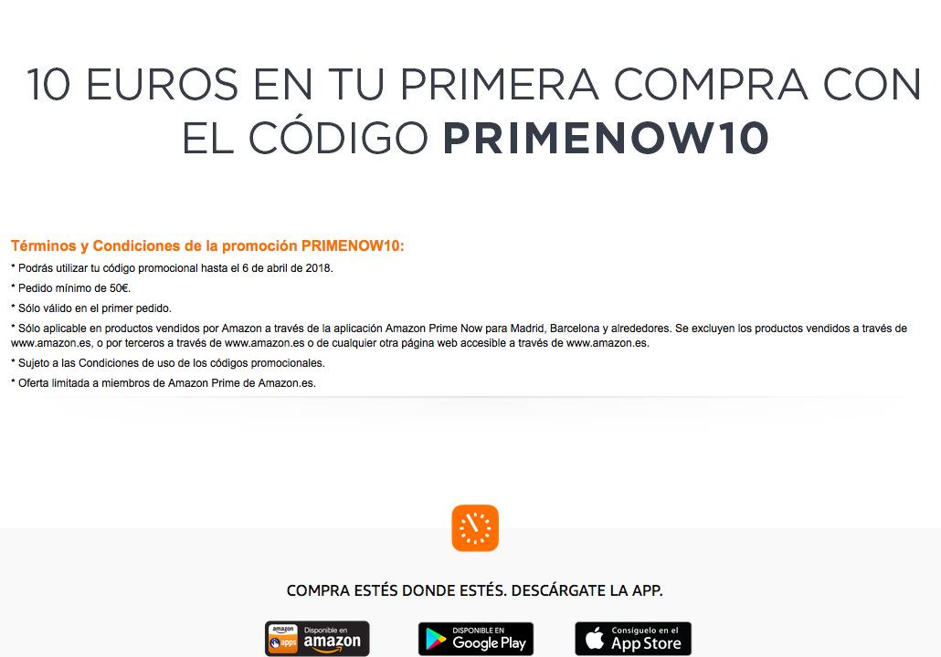 Amazon -10 EUROS en tu primera compra