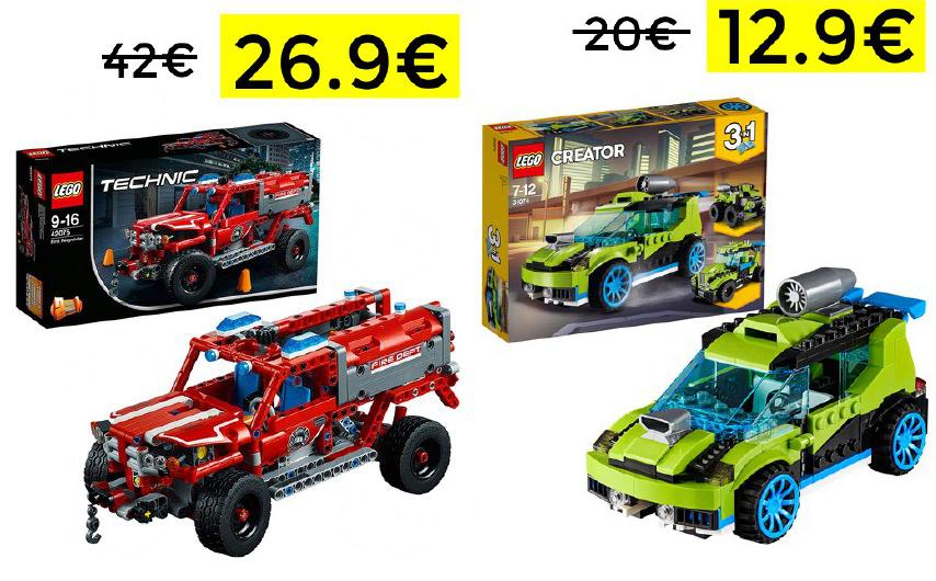 Descuentos hasta el 40% en Lego Vehículos