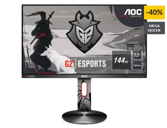 "AOC Gaming G2590PX/G2 Monitor 24.5"",144Hz, 1 ms"