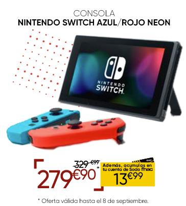 Nintendo Switch REBAJADA en Fnac Callao
