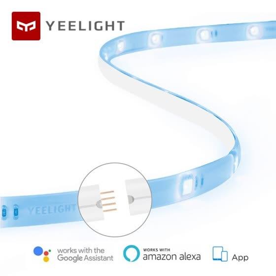 Tira de luz inteligente Xiaomi Yeelight PLUS 1 m LED extensible RGB Color. 5,46 euro
