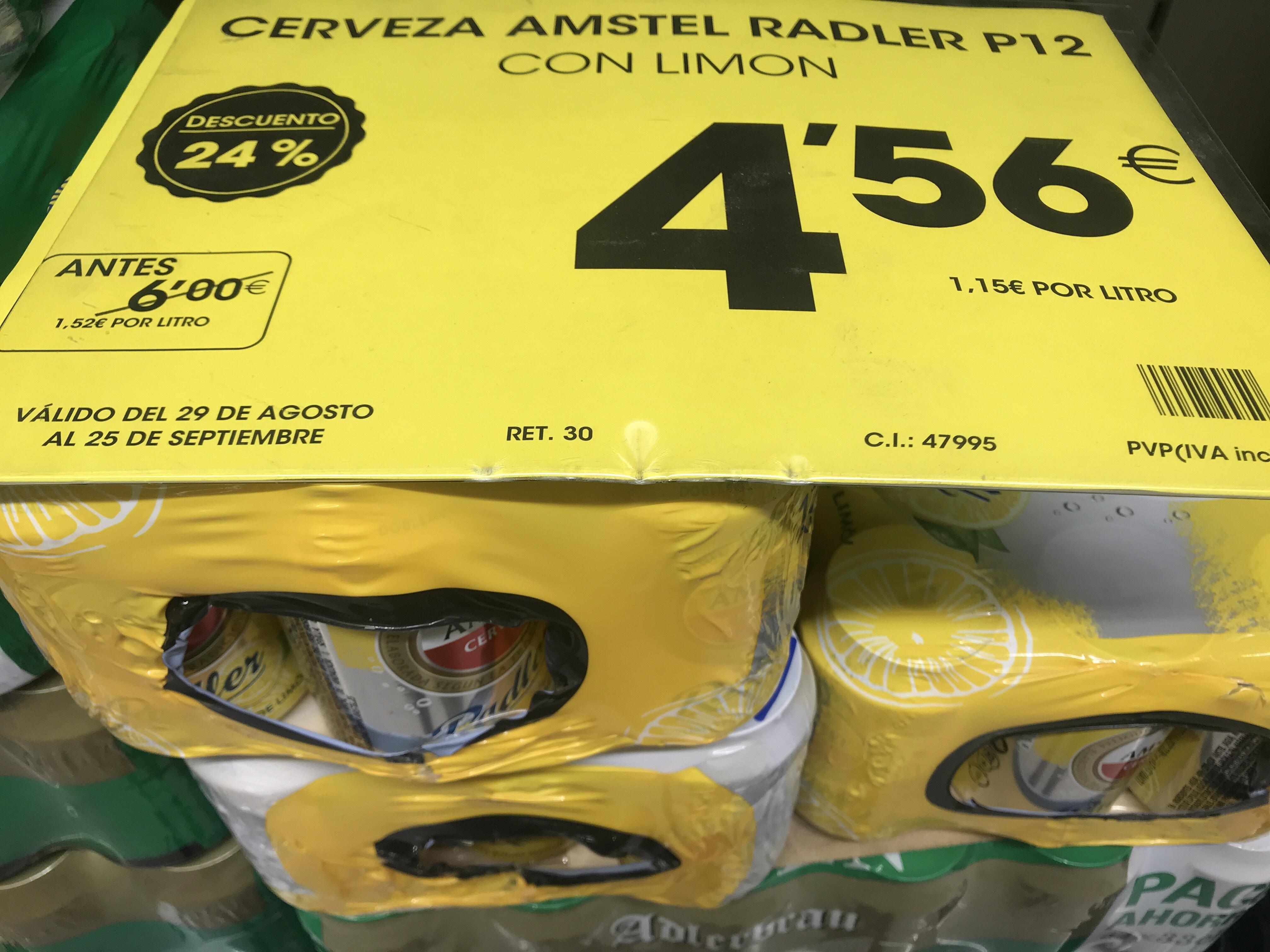 AHORRAMAS: Amstel Radler pack 12