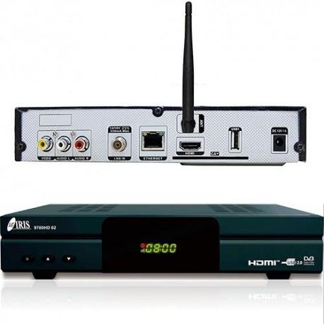 IRIS 9700 HD 02 - Receptor de TV por satélite (Wi-Fi, HDMI, DVB-S2)