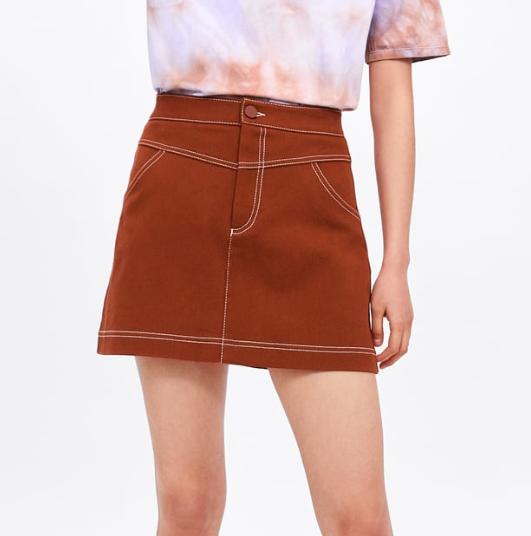 Falda mini de Zara