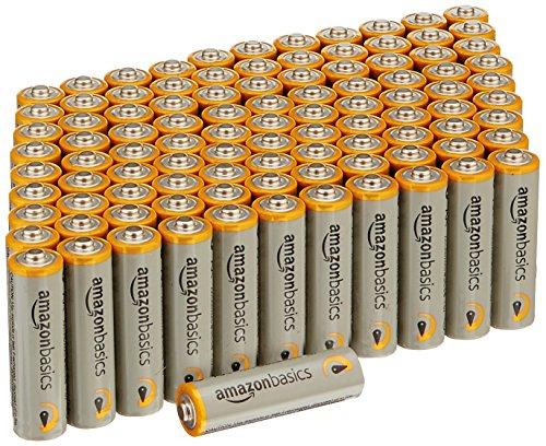 AmazonBasics - Paquete de 100 pilas alcalinas AA