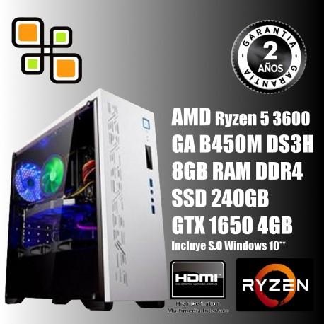 Ordenador Gamer Ryzen 5 3600 y GTX 1650