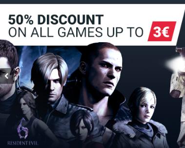 50% de descuento en todos los juegos por debajo de 3€
