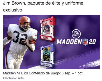 Twitch Prime: Jim Brown, paquete de élite y uniforme exclusivo