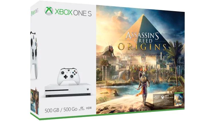 Xbox One S 1 TB + AC Origins + Mando extra (Microsoft Store)