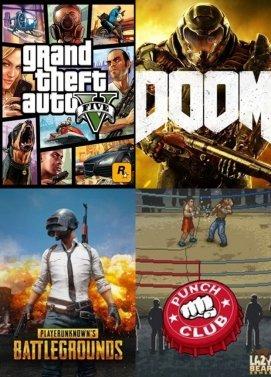 Bundle GTA5 + PUBG + DOOM + PUNCH CLUB