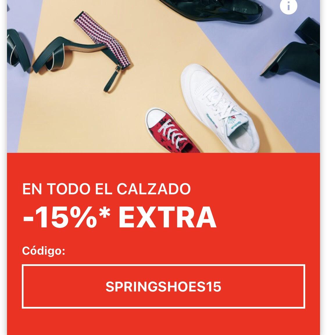 Todas las zapatillas con un descuento de 15%