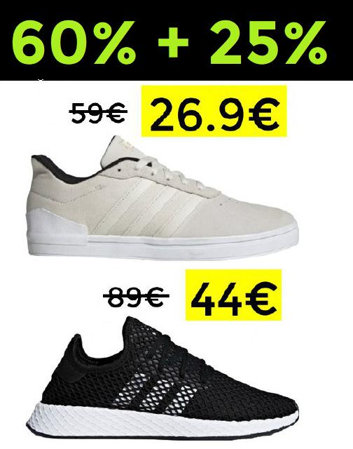 Adidas hasta 60% + 25% Extra