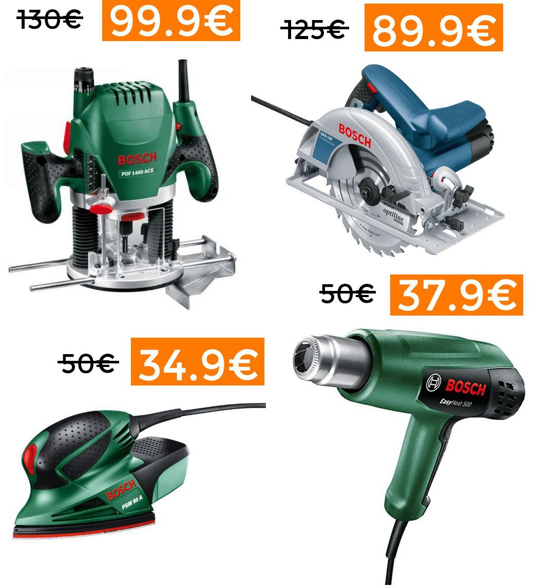 Bajadas en herramientas Bosch