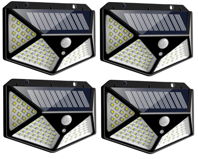 4x Foco solar 100 LEDS 1200lm solo 16€ (desde España)