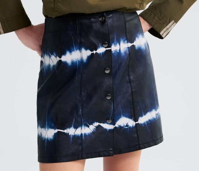 Falda mini tie dye Zara